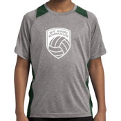- YST361 Youth Heather Colorblock Contender ™ Tee